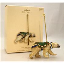 Hallmark Series Ornament 2007 Carousel Ride #4 - Grand Polar Bear - #QX7067