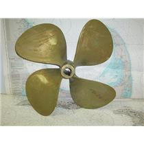 "Boaters' Resale Shop of TX 1710 1024.05 BRONZE 4 BLADE 22RH24 PROP- 1-3/4"" SHAFT"