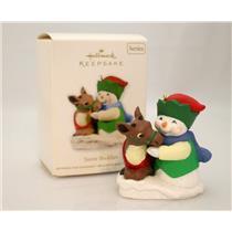 Hallmark Series Ornament 2011 Snow Buddies #14 - Snowman and Reindeer - #QX8799