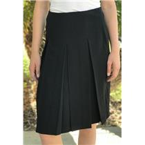 Sz 4 Studio M Women's Triple Pleated Front Pencil Skirt Straight Fit Side Zipper