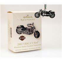 Hallmark Miniature Series Ornament 2008 Harley #10 2002 VRSCA V-Rod #QXM2034-DB