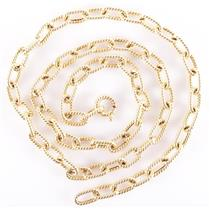 "14k Yellow Gold Large Italian Link Chain 28"" Length 23g"