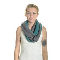 NWT One Size Gray/Green Ann Taylor LOFT Two Tone Infinity Scarf 100% Acrylic
