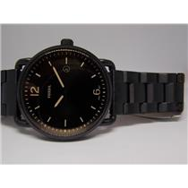 "Fossil Watch FS5277 Mens All Black Bracelet and Case. ""The Commuter""."