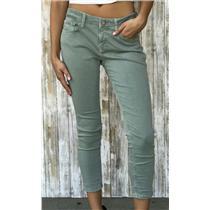 Sz 28 Mavi Jeans Co. Alexa Petite Mid Rise Skinny Ankle Crop Faded Green Stretch