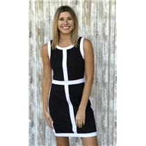 Sz S Philosophy Republic Clothing Black White Windowpane Ponte Knit Sheath Dress