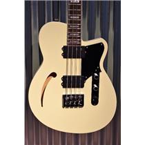 Reverend Guitars Dub King 4 String Semi Hollow Bass Guitar Cream & Two Tone Case