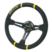 350mm Suede Leather Deep Dish Racing Steering Wheel Can Fits MOMO SPARCO OMP