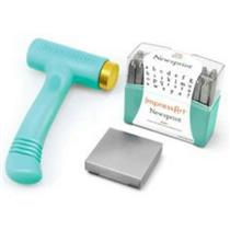 ImpressArt Metal Stamping Hammer With Letter Stamps and Steel Stamping Block