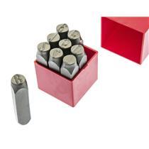 """11/16"""" 16MM Number Set 40CRV Steel  56-HRC Punch Stamp Set Metal 9-Pcs"""