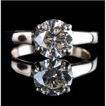 14k Yellow Gold Round Brilliant Cut Diamond Solitaire Engagement Ring 1.35ct