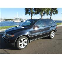 2006 BMW X5 4.4 V8 dark blue on black NICE!!