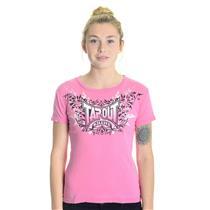 S NWT Tapout MMA WISP Pink Jersey Cotton T-Shirt Black/White B3LI3VE Logo Top