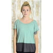 S Gentle Fawn Anthropologie Light Blue/Vintage Navy Color Block Jersey Knit Top