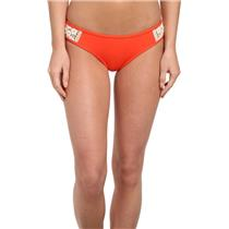 S Lucky Brand Natural Connection Tab Side Crochet Bikini Bottoms Sunrise Orange