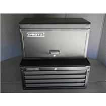 "Proto 540S 27"" Top Chest with Drop Front 4 Drawer Dual Black"