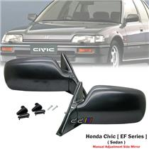 1 Pair Front Manual Door Side Mirror For Honda Civic EF EF2 SH4 1988-91 Sedan