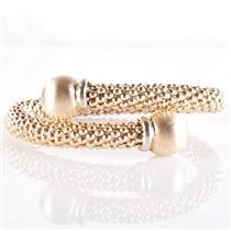 "Stunning 18k Yellow Gold Large Bead Style Coil Bracelet 7.5"" Length 29.4g"
