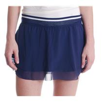 NWT L New Balance Avi Aviation Blue W/ White Tournament Mesh Detail Tennis Skort
