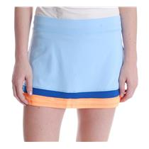 NWT Sz L Sofibella Women's Azalea 13 Inch Skort with Shorts in Ionio/Paperino
