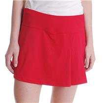 NWT Sz L Bollé Women's Red with Navy All American Side Slit Skirt with Shorts