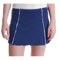 NWT L Denise Cronwall Tennis Golf  Navy Blue Wyn Pocket Skirt W/ Attached Shorts