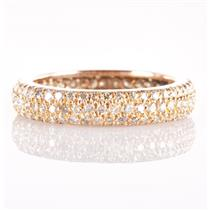 18k Yellow Gold Round Cut Diamond Eternity Wedding / Anniversary Ring 1.02ctw