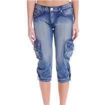 28 NWT Authentic Rock & Republic Jeans Keri Lowrise Straight Sedition Cargo Crop