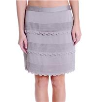 NWT Sz 4 Banana Republic Taupe Scalloped Pleated Detail Lined Pencil Skirt