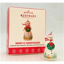 Hallmark Miniature Club Ornament 2017 Benny M Merrymaker - Porcelain - #QXC5025