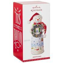 Hallmark Tabletop Decoration 2017 Snowtop Santa with Wreath - #QFM3325