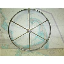 "Boaters' Resale Shop of TX 1712 0275.47 STAINLESS STEEL 22"" STEERING WHEEL (1"")"