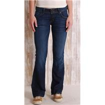 28 Hudson Signature Flap Button Pocket Low-Rise Dark Wash Bootcut Jeans in Hey