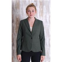 Sz 4 Banana Republic Olive Green Knit Blend Lined Single Button Closure Blazer