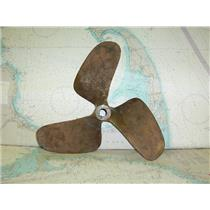 "Boaters' Resale Shop of TX 1712 0275.23 BRONZE 3 BLADE 16LH13 PROP FOR 1"" SHAFT"