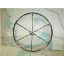 "Boaters' Resale Shop of TX 1711 2525.11 STAINLESS STEEL 20"" STEERING WHEEL (1"")"