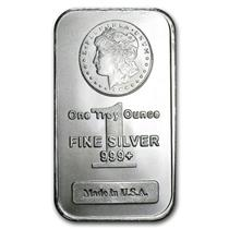 Silver Bar 1 oz Troy Ounce .999 Morgan Lady Liberty Design