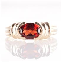 14k Yellow Gold Oval Cut Natural Mozambique Garnet Solitaire Ring 2.20ct