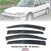 Weathershield Car Window Door Visor Wind Deflector For Honda Civic EF 4DR 88-91