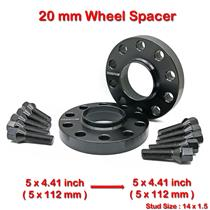 2 pcs 20mm 5 Studs 14 x 1.5 PCD 5 x 112 to 5 x 112 mm Wheel Spacer Spacers