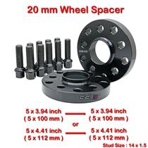2 pcs 20mm 5 Studs 14 x 1.5 PCD 5 x 100 / 5 x 112 mm Wheel Spacer Spacers