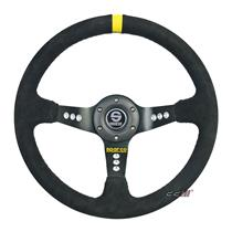 350mm SC Suede Leather Deep Dish Racing Steering Wheel Can Fits MOMO SPARCO OMP