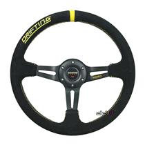 350mm MM Suede Leather Deep Dish Racing Steering Wheel Can Fits MOMO SPARCO OMP