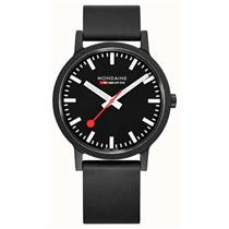 Mondaine Watch MS1.32120.RB Essence Ladies Minimalist Swiss Watch. Rubber Strap