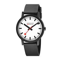Mondaine Watch MS1.41110.RB Essence.Swiss Made.Swiss Railways Style.Rubber Strap