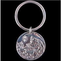 Tiffany & Co Sterling Silver Father Christmas Key Chain 24.69g Circa 1999