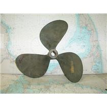 "Boaters Resale Shop of TX 1712 1141.04 BRONZE 3 BLADE 14LH14 PROP FOR 1"" SHAFT"