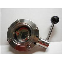 "GEA-7 316L STAINLESS STEEL BUTTERFLY VALVE  2.5 ""INSIDE DIAMETER"