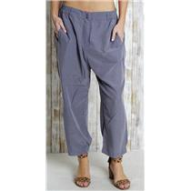 L Ellen Tracy Grey Elastic Waist Casual Crop Pant Casual Brushed Polyester Modal