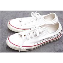 Women's 10 Men's 8 Converse All Star Natural Canvas Pyramid Studded Tennis Shoe